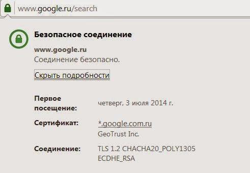 Информация о надежности сайтов в Opera
