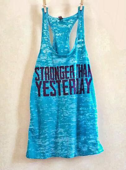 Motivational exercise workout tank fashion style