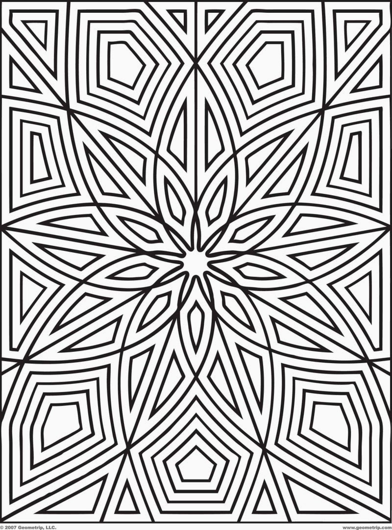 coloring pages geometric free printable coloring pages