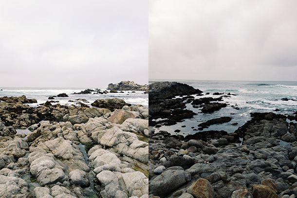 rocky beach in monterey california
