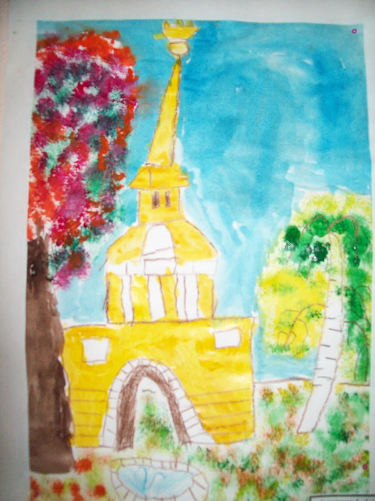 Нарисовать рисунок на тему осень в моем городе 3