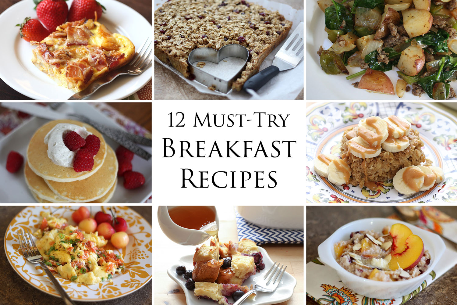 12 Must-Try Breakfast Recipes by Barefeet In The Kitchen