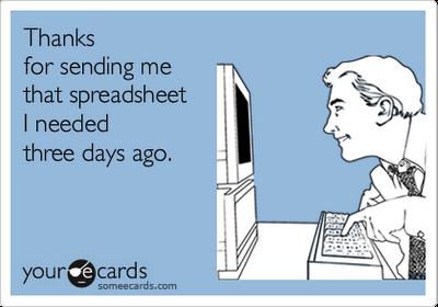 funny excel spreadsheet joke