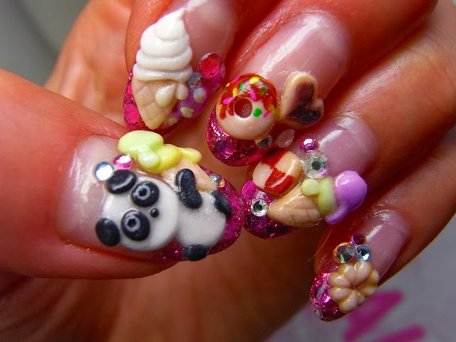 One Hundred Styles: 3D Nail Art Designs Gallery