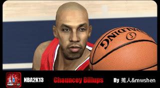 NBA 2K13 Chauncey Billups Cyber Face Mod