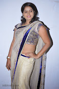 Actress Tanusha Photos in Saree at Present Love Audio-thumbnail-5