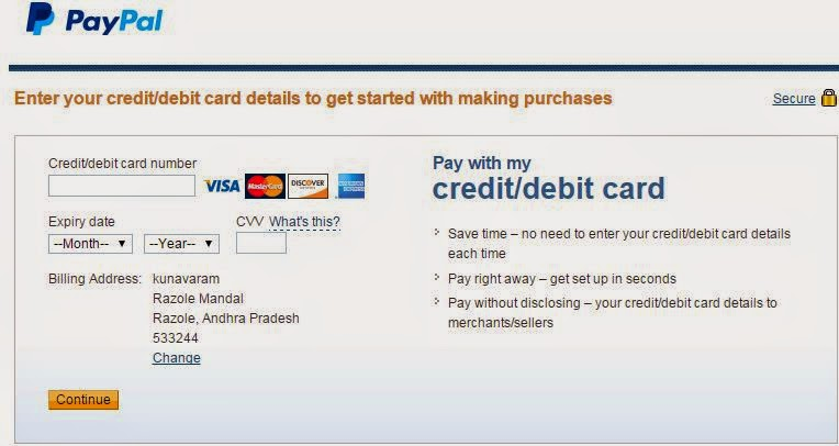 create a paypal account with debit card