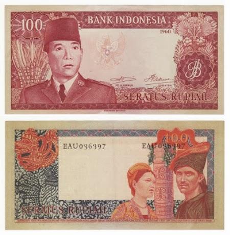 Uang Kertas 100 Rupiah 1960