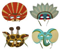 Moitas máscaras para colorear.