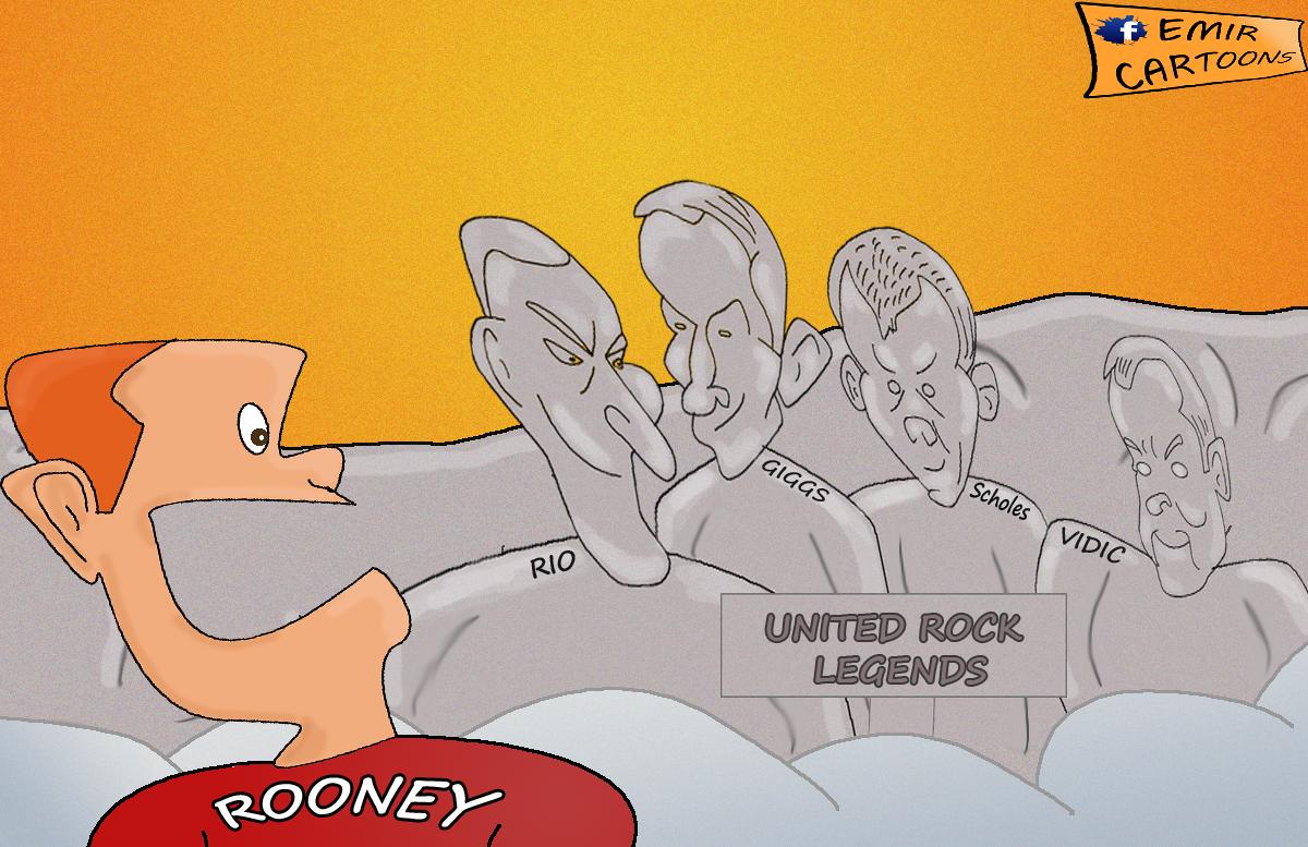 Rio Ferdinand , Rooney, united,manchester, karikature,fudbal,karikatura dana,emir balkan cartoons, omar momani,nove karikature,