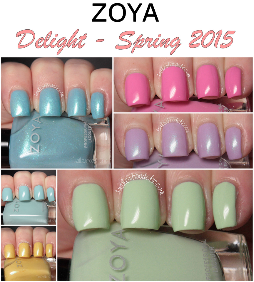 zoya delight spring 2015 swatches