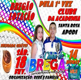 CLUBE DO BREGA NO CLUBE DA ACADEMIA SÍTIO SANTA ROSA - APODI