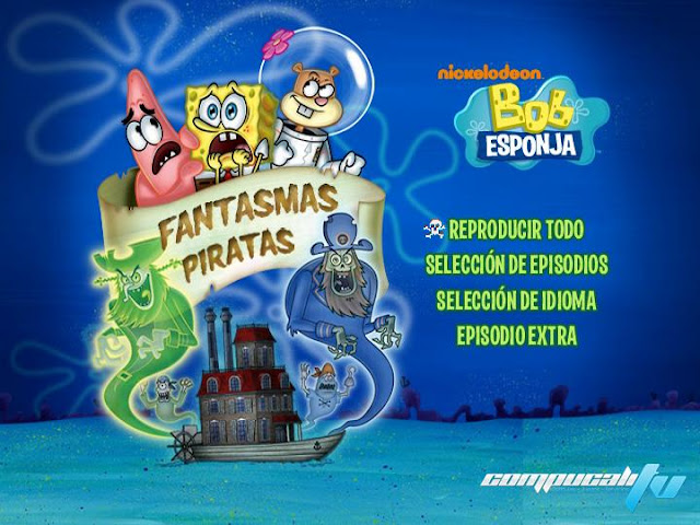 SpongeBob SquarePants Ghoul Fools DVDR NTSC Español Latino Menú Full