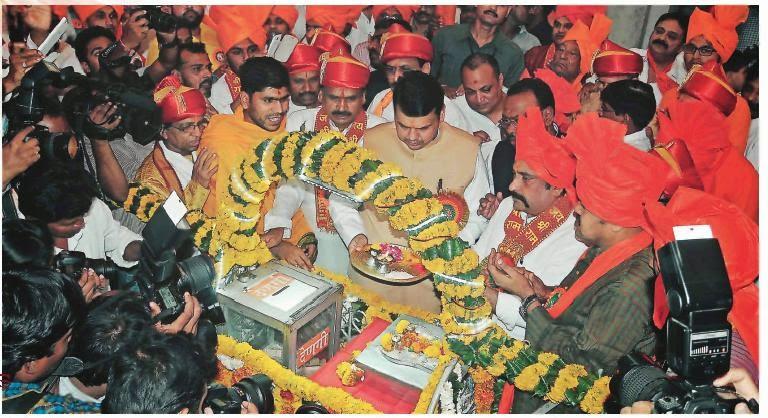 CM Devendta Fadnavis in Ram Navmi Nagpur