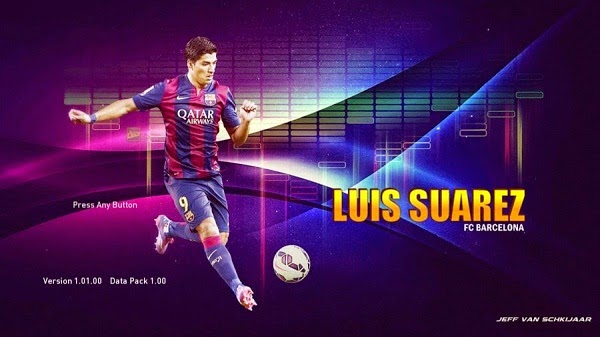 Update PES 2015 Luis Suarez Start Screen
