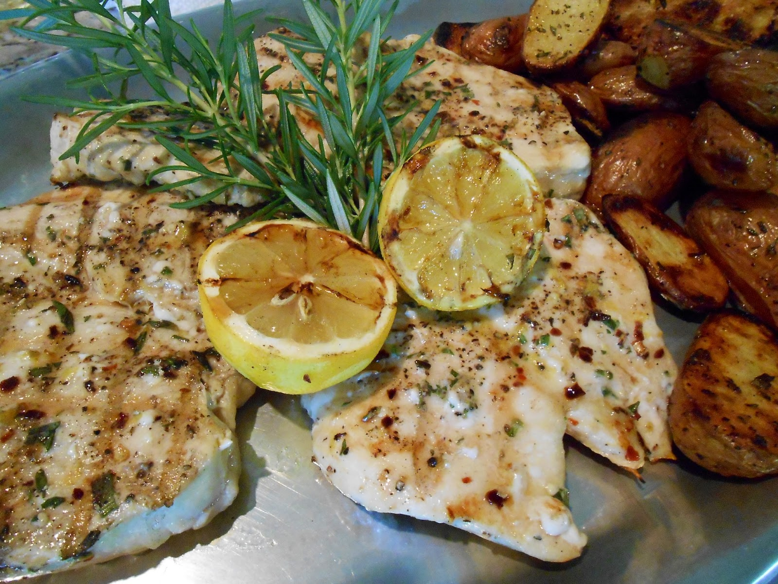 Kitty's Kozy Kitchen: Lemon and Rosemary Grilled Chicken