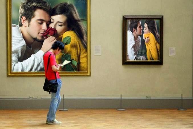 Montagem no museu