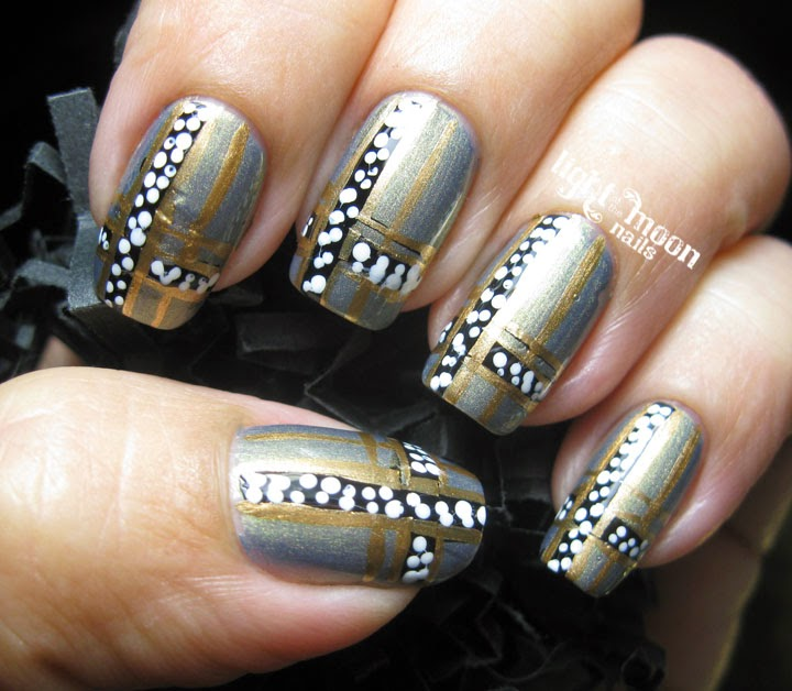 Light Of The Moon Nails Art Deco Nail Art