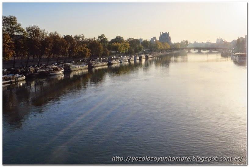 Vista del Sena desde el puente de la Concordia