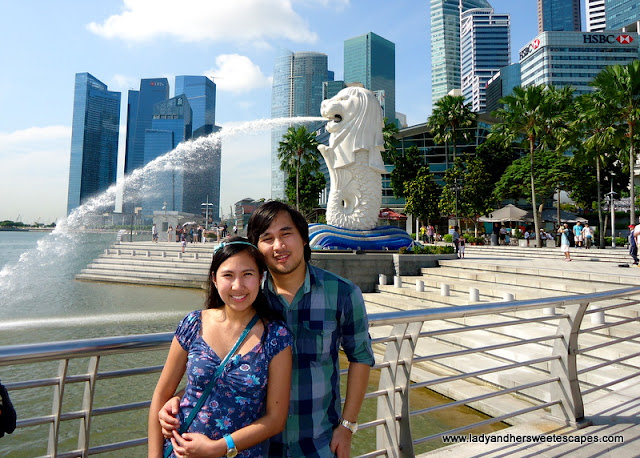 Lady and Ed in Singapore