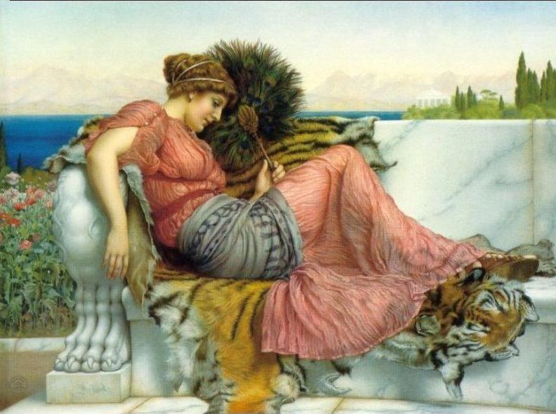 godward amaryllis painting