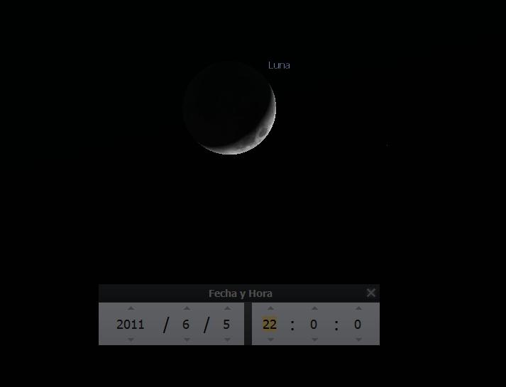 Fase de la Luna el 5 junio de 2011