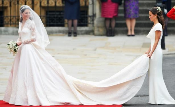 Hermoso vestido de novia de Kate Middletón