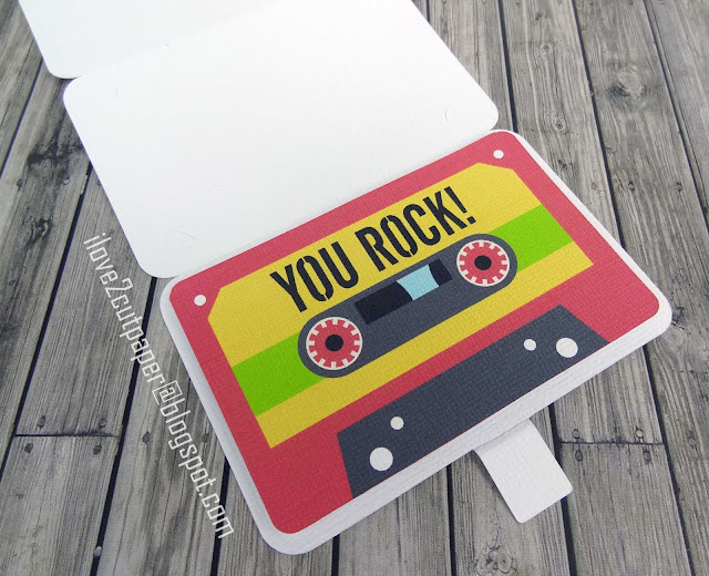 Print and Cut, Lettering Delights, ilove2cutpaper, pazzles, pazzles inspiration, pazzles inspiration vue, inspiration vue, svg, wpc, cutting files, gift card holder, cassette, you rock