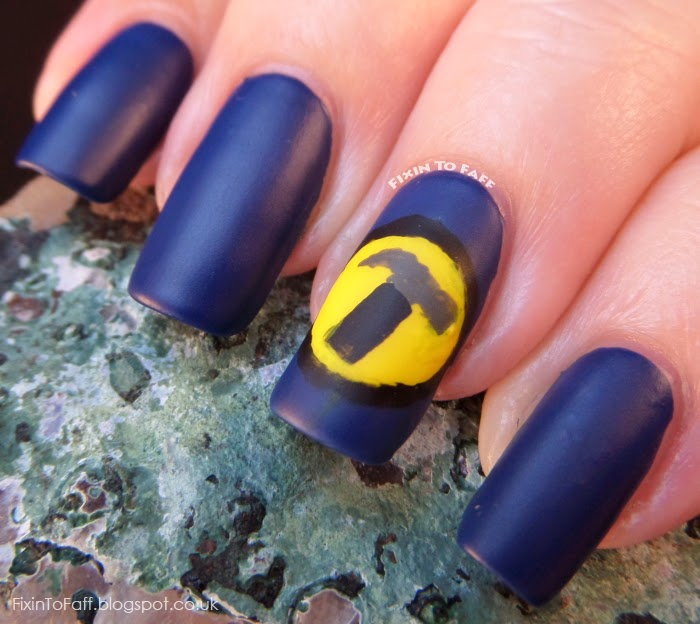 Captain Hammer Nail Art