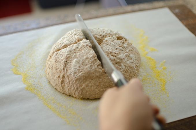 No Knead Bran Bread 9 | Korean Recipes