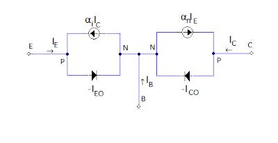 Ebers moll model pnp circuit