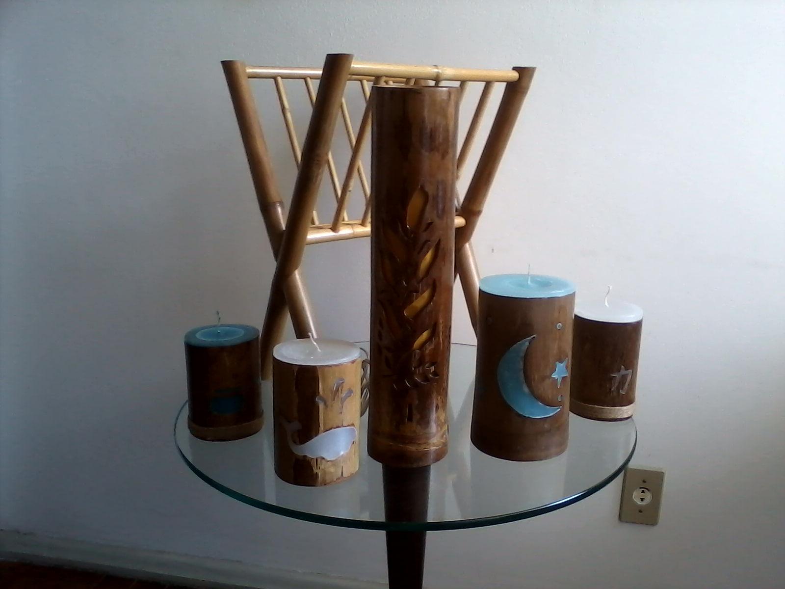 Artesanato Com Cd Velho ~ Artesanato de bambu Objetos de bambu