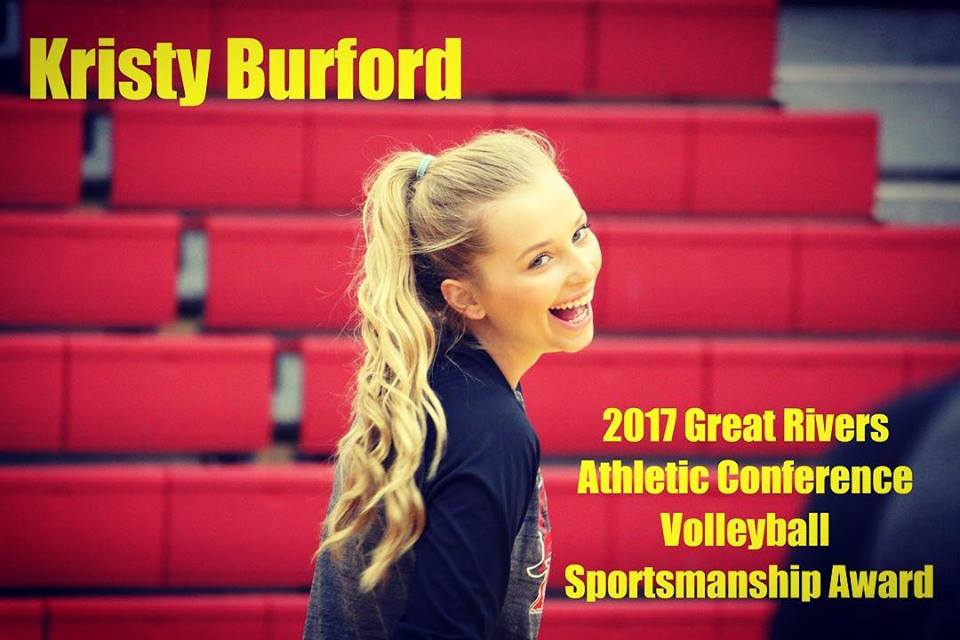 Kristy Burford - 2017 GRAC Sportsmanship Award