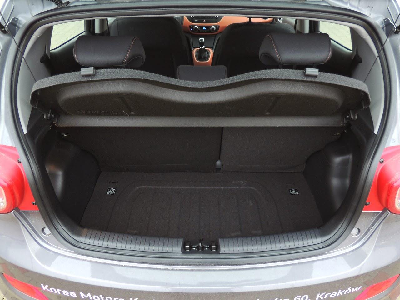 Hyundai i10 - bagażnik