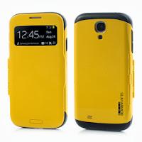 SGP Folio Cover Slim Armor S View Case for Samsung Galaxy S4 I9500 I9502 M919 - Yellow