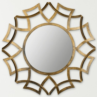 Overstock Inca Sunburst Antique Gold Mirror
