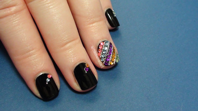 Rhinestone Covered Nails