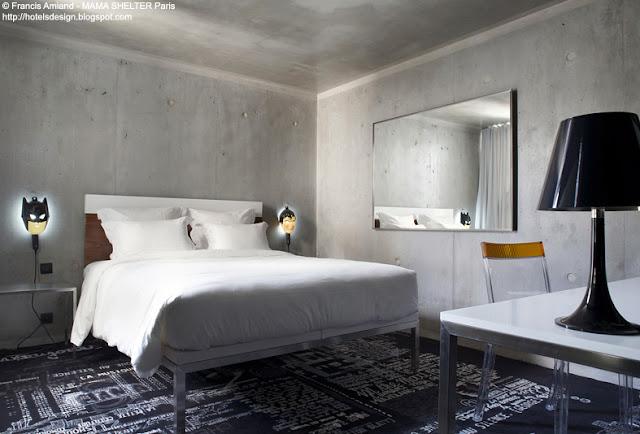 les plus beaux hotels design du monde h tel mama shelter paris by philippe starck roland. Black Bedroom Furniture Sets. Home Design Ideas