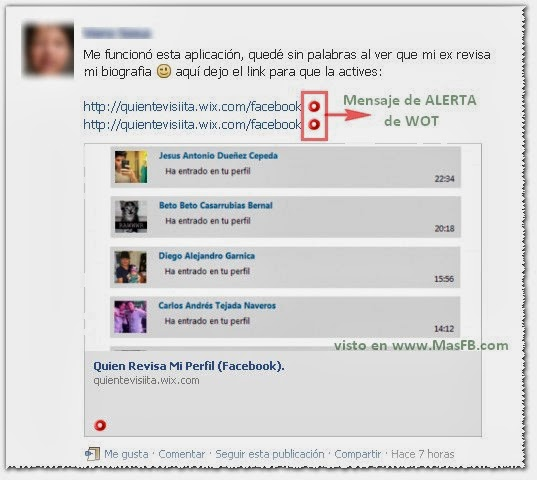 Revisar Biografia Facebook Fraude