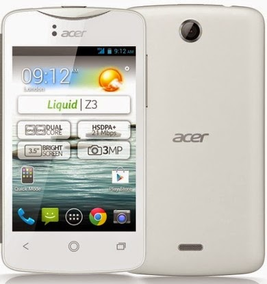 CARA FLASH ACER Z130/ACER LIQUID Z3