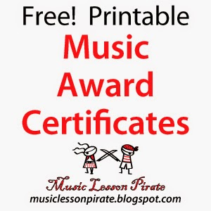 Music lesson pirate music teaching resources printable music printable music award certificates blank template yelopaper Images