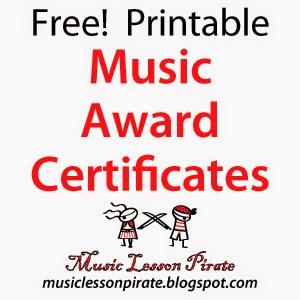 music awards certificates templates
