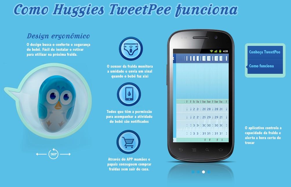 funcionamento huggies tweetpee