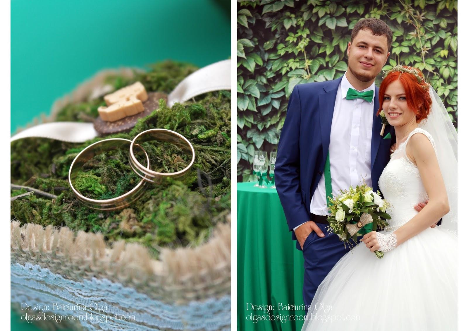 Свадьба в зеленом цвете фото жениха и невесты