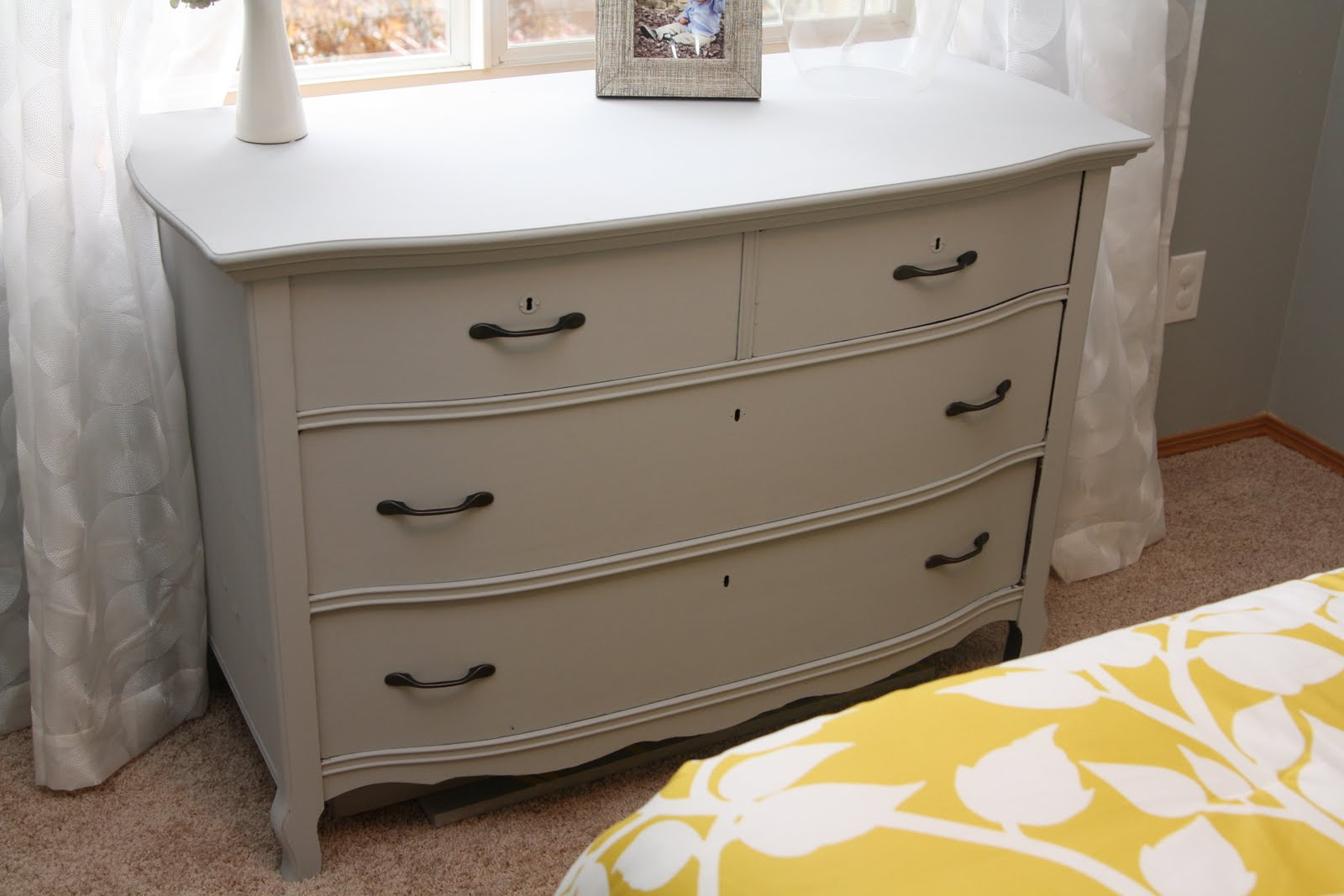 decorating the dorchester way paris grey dresser redo