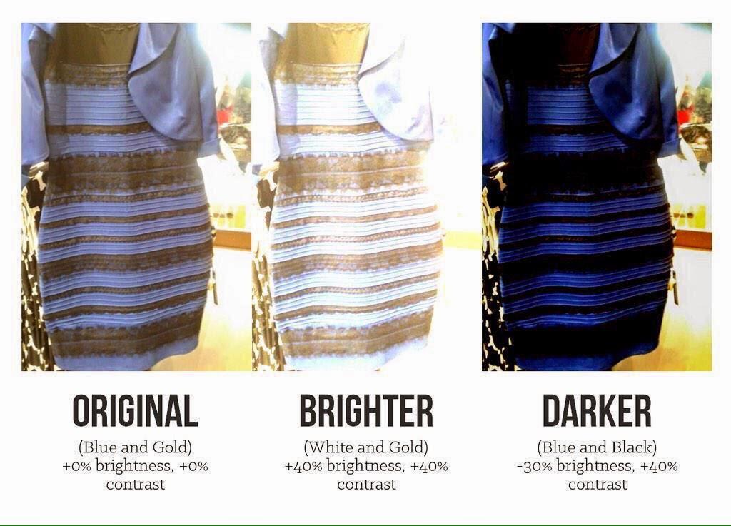 Vestido azul e preto explicacao cientifica