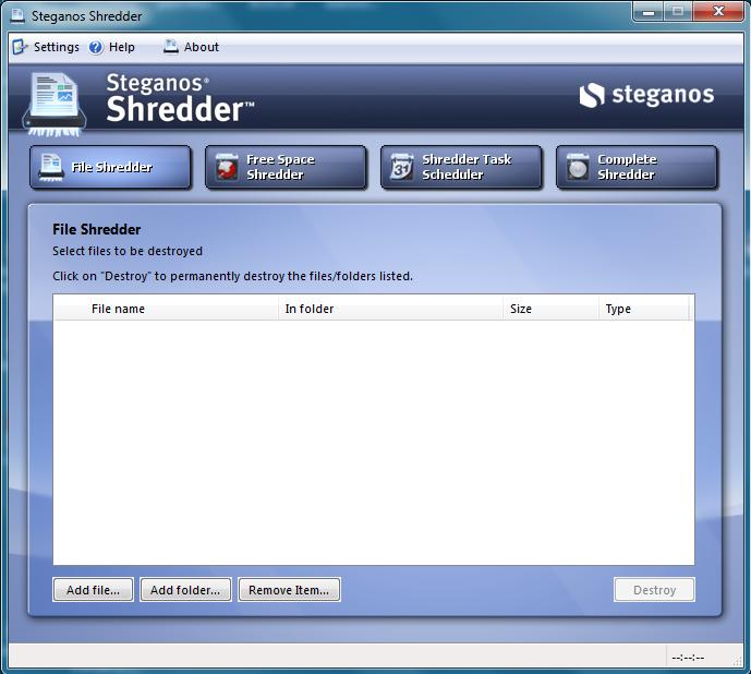steganos shredder