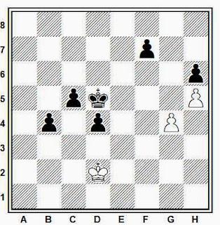 Estudio artístico de ajedrez compuesto por Kling y Horwitz (Chess Studies of Ending Games, 1851)