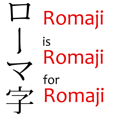 Simply put, romaji is a way to write Japanese words using the latin alphabet.