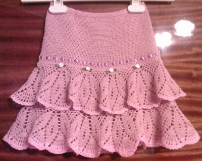 Вязаные юбочки для девочки фото